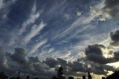 Cloudscape of Avrances (Normandy) Stock Photography