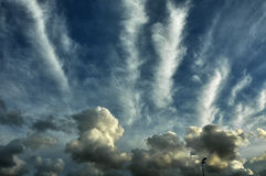 Cloudscape of Avrances (Normandy) Royalty Free Stock Photos