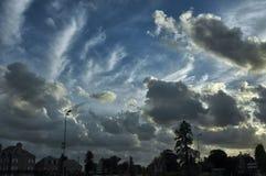 Cloudscape of Avrances (Normandy) Stock Image