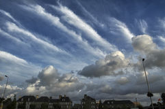 Cloudscape of Avrances (Normandy) Royalty Free Stock Images
