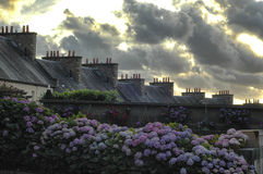 Cloudscape of Avrances (Normandy) Royalty Free Stock Photo