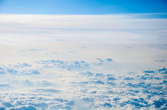 Cloudscape background . Blue sky and white cloud. Stock Images