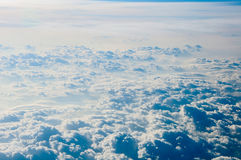 Cloudscape background . Blue sky and white cloud. stock illustration