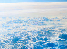 Cloudscape background . Blue sky and white cloud. For your content Stock Photos