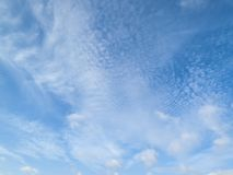 Cloudscape background. Of cirrus and cumulus clouds Royalty Free Stock Image