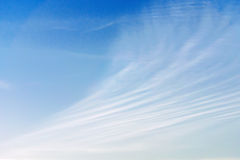 Cloudscape with beautiful cloud lines against blue sky Stock Photo