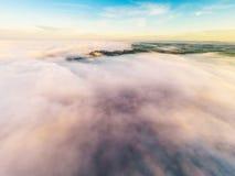 Cloudscape bij zonsopgang Stock Afbeelding