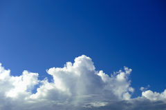 Cloudscape and blue sky. Scenic view of white cloudscape and blue sky Royalty Free Stock Images