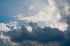 Cloudscape in blue sky. Scenic view of cloudscape in blue sky Stock Images