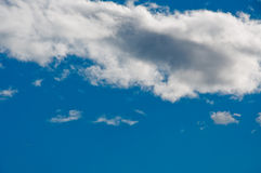 Cloudscape in blue sky. Scenic view of white cloudscape in blue sky Royalty Free Stock Images