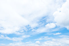 Cloudscape on blue sky in cloudy day Royalty Free Stock Photography
