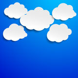 Cloudscape Blue Sky Label Royalty Free Stock Photo