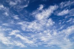 Cloudscape with blue sky in good weather Stock Image