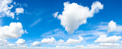 Cloudscape. Blue sky and white cloud. Stock Photography