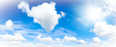 Cloudscape. Blue sky and white cloud. Royalty Free Stock Images