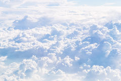 Cloudscape Blue sky and white cloud. Sunny day Stock Photo
