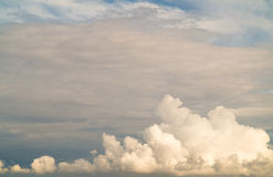 Cloudscape. Blue sky and white cloud. Sunny day. Royalty Free Stock Image
