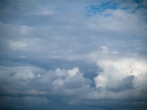 Cloudscape. Blue sky and white cloud. Sunny day. Royalty Free Stock Images