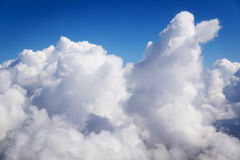 Cloudscape. Blue sky and white cloud. Sunny day. Cumulus cloud Stock Images