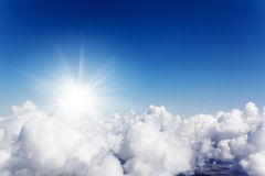 Cloudscape. Blue sky and white cloud. Royalty Free Stock Photos