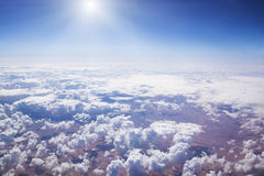 Cloudscape. Blue sky and white cloud. Stock Photo