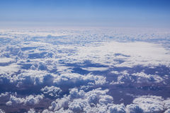 Cloudscape. Blue sky and white cloud. Royalty Free Stock Photo