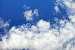 Cloudscape. Blue sky and white cloud. Sunny day. Cumulus cloud. Royalty Free Stock Images