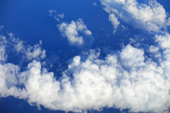 Cloudscape. Blue sky and white cloud. Sunny day. Cumulus cloud. Stock Photo