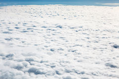 Cloudscape. Blue sky and white cloud. Sunny day. Cumulus cloud. Stock Photography