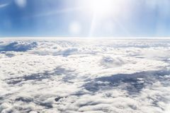 Blue sky and white cloud. Sunny day Royalty Free Stock Photography