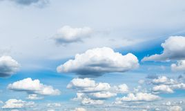 Cloudscape. The blue sky with white-grey clouds Royalty Free Stock Photography