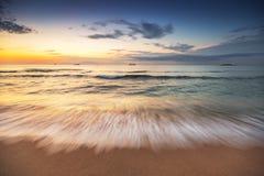 Cloudscape bonito sobre o mar Fotografia de Stock Royalty Free