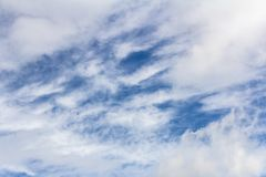 A Cloudscape on a bright sunny day Royalty Free Stock Photos