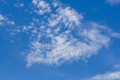 Cloudscape bulding a shape Stock Photo