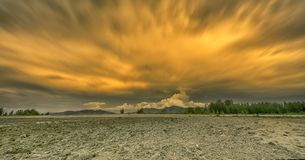 Cloudscape chez Laem Pakarang photo stock