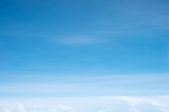 Cloudscape. Clouds above the blue horizon Royalty Free Stock Image