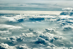 Cloudscape. Clouds above the horizon Royalty Free Stock Images
