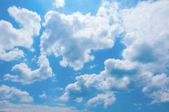 Cloudscape. Clouds in a blue sky Royalty Free Stock Image