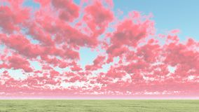 Cloudscape. Colorful clouds above horizon. This image created in entirety by me and is entirely owned by me and is entirely legal for me to sell and distribute Royalty Free Stock Images
