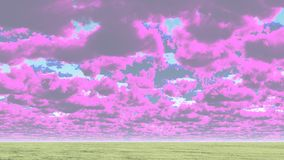 Cloudscape. Colorful clouds above horizon. This image created in entirety by me and is entirely owned by me and is entirely legal for me to sell and distribute Royalty Free Stock Photos