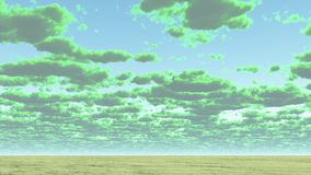 Cloudscape. Colorful clouds above horizon. This image created in entirety by me and is entirely owned by me and is entirely legal for me to sell and distribute Royalty Free Stock Photo