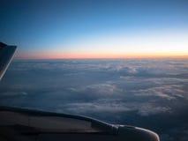 Cloudscape com por do sol Fotos de Stock Royalty Free