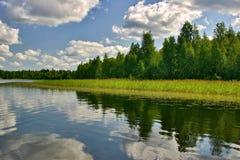 Cloudscape com reflexão Foto de Stock Royalty Free