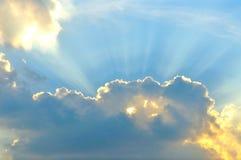 Cloudscape com sunray Imagem de Stock