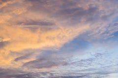 Cloudscape con il tramonto Fotografia Stock Libera da Diritti