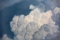 Cloudscape with cumulonimbus clouds Royalty Free Stock Images