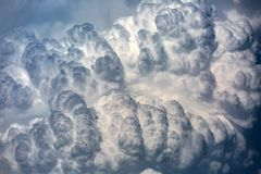 Cloudscape with cumulonimbus clouds Royalty Free Stock Photo