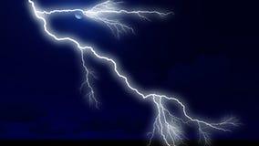 Cloudscape da noite com rendição forte do relâmpago 3d Fotos de Stock Royalty Free