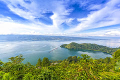 Cloudscape of danau toba Stock Photography