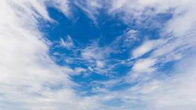 Cloudscape on daylight time stock footage